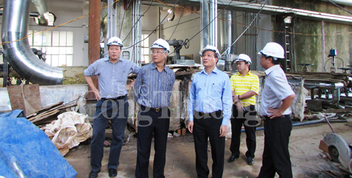 Deputy Minister Cao Quoc Hung inspects the Nhan Co Bauxite - Aluminum Project